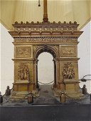 Grand tour bronze Arc d' Triomphe, late 19th C