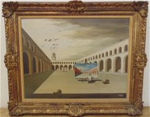 """Surreal oil, """"the colorist"""", sgd. Harold Sterner"""