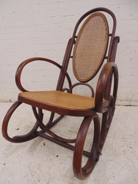 Hoffmann Thonet bentwood rocking chair