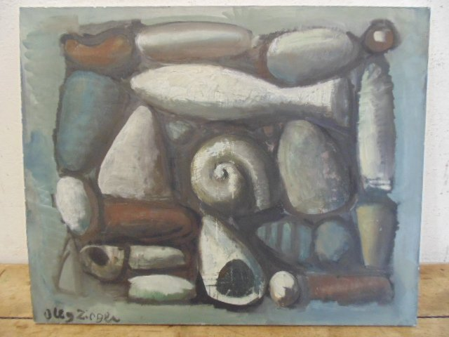Oleg Zinger (Moscow 1910 - 1998) Abstract Oil on canvas