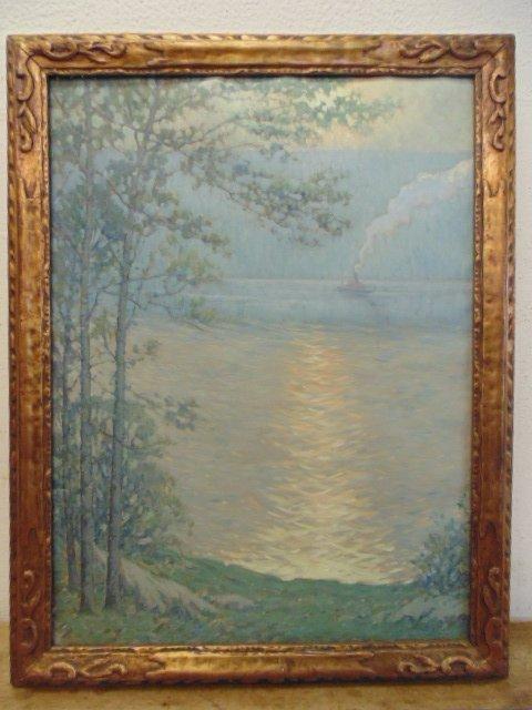 George J. Stengel (America 1872 - 1937)O/C, river scene