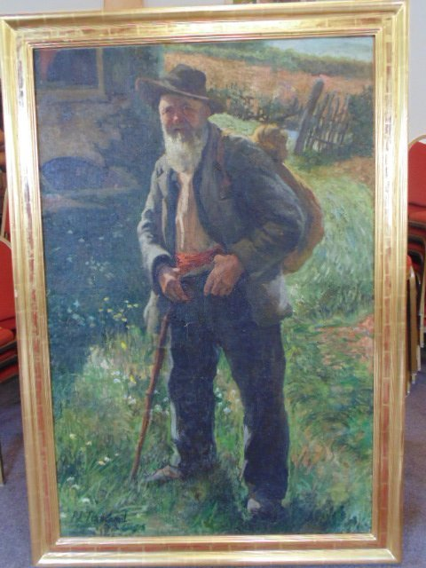 Pierre Jules Tranchant O/C full size portrait, signed