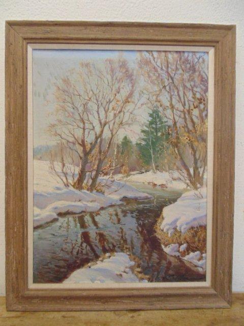 Constantin Westchiloff O/C winter landscape