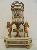 French bronze & crystal mystery clock, Thiebaut Freres