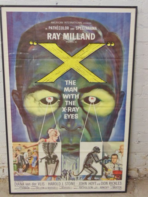 """Movie poster, """"The Man with X-Ray Eyes"""", 1963"""