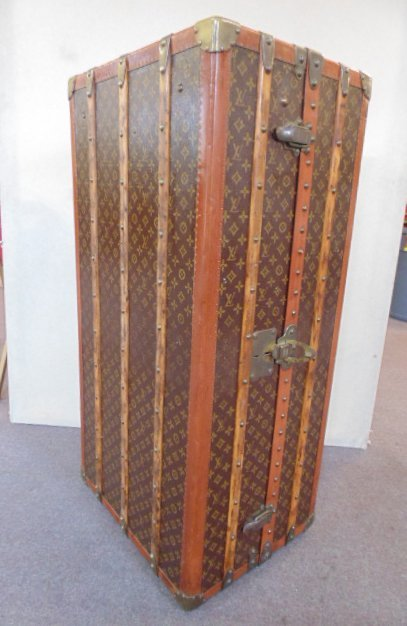 vintage Louis Vuitton steamer trunk with drawer