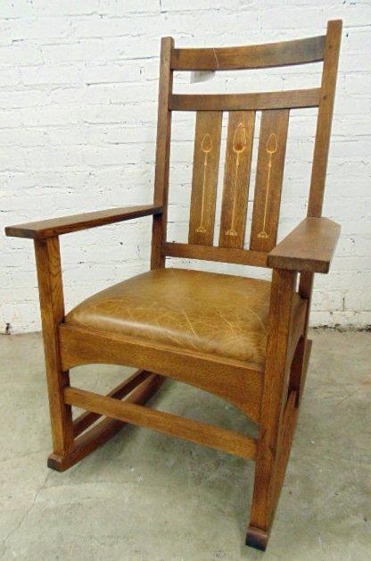 Stickley Audi oak rocking chair