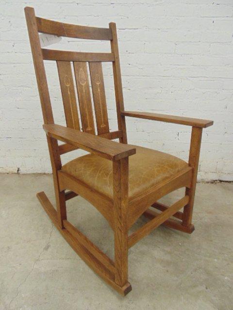 Stickley Audi oak rocking chair - 2