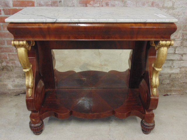 marble top piertable, gilt detail