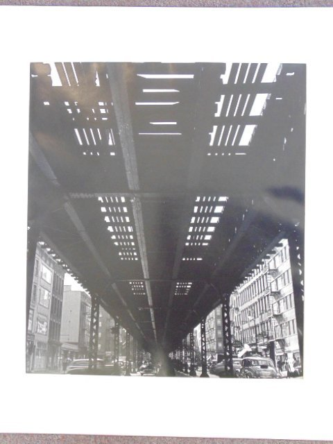 "Gelatin silver print, ""Third Ave El at 55th, 1951, Tony"