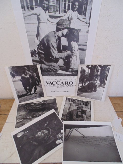 Lot 6 WW2 photo's & poster, Tony Vaccaro
