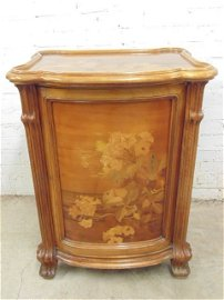 Galle inlaid art nouveau cellerette cabinet