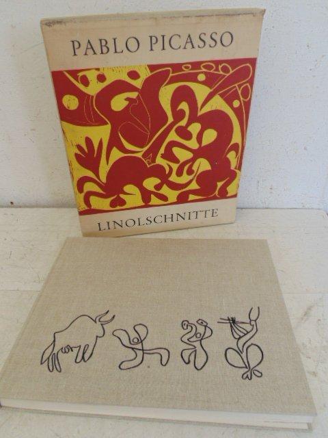 "Picasso book, ""Linolschnitte"", in original sleeve"