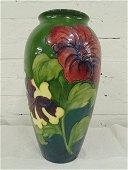 """Moorcroft vase, 12.5""""tall, floral design, in good"""