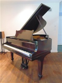 Baby grand piano by Steinway