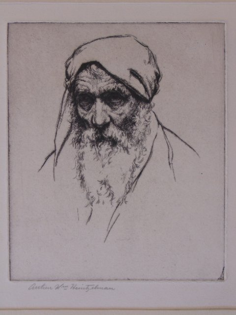 "Etching, ""Portrait of an old man"", Arthur Wm."