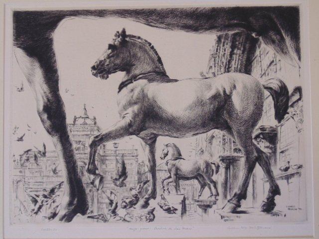 "Etching, ""Basilica di San Marco"", Arthur Wm."
