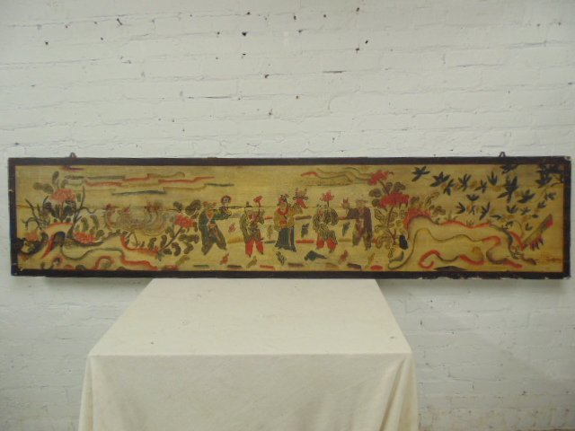 Large Chinese painted panel