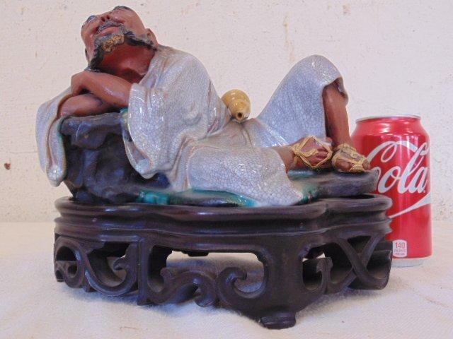 Chinese mud figure glazed