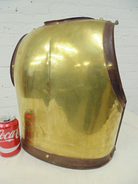 Antique rass & iron armored breast plate