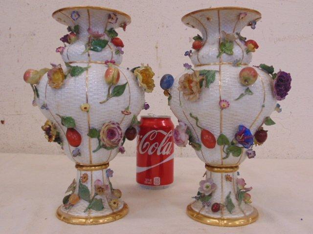 Pair porcelain Meissen urns