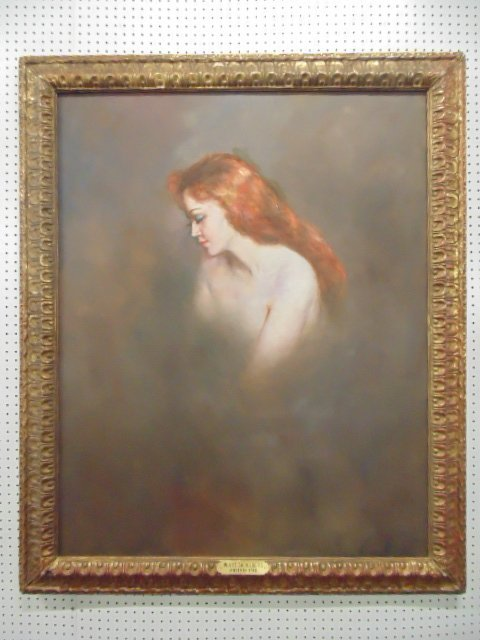 """Oil on canvas, """"White Shoulders"""", by Pal Fried"""