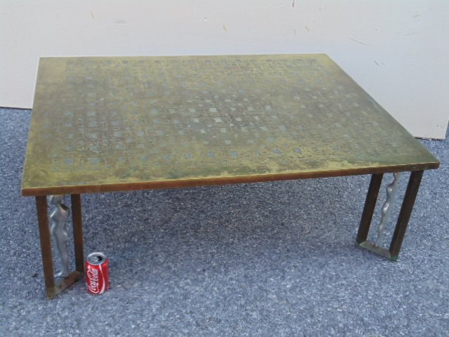 Philip Kelvin Laverne coffee table, etched top