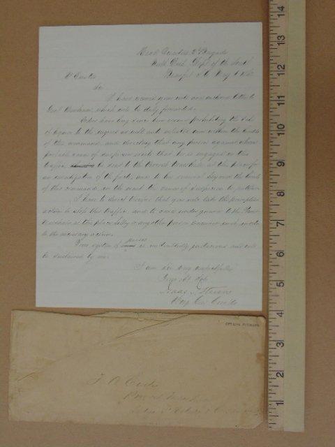 Handwritten note from headquarters 2nd brigade North