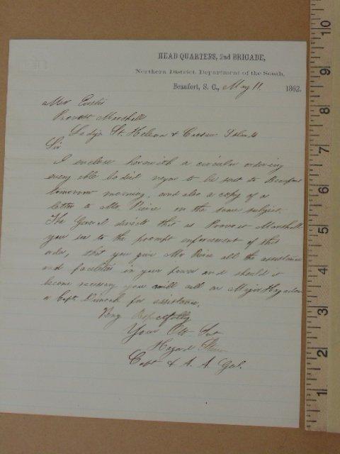 Handwritten note from headquarters 2nd brigade