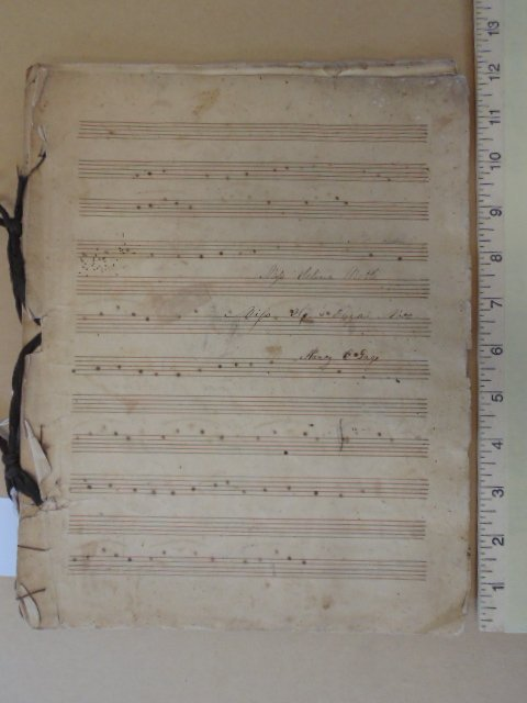 "Book with handwritten sheet music, ""the bride"""