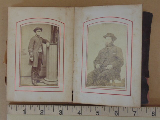 Small photo album, included photograph of soldier
