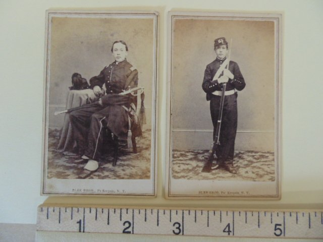 2 photographs, young soldiers, by Slee Bros