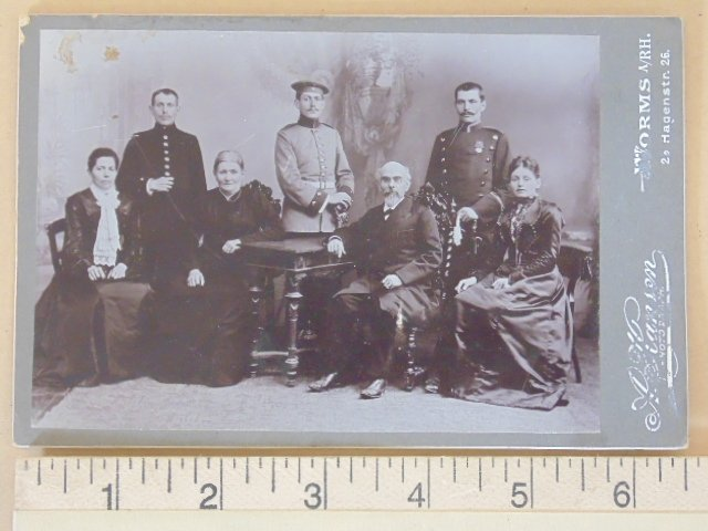 Photograph, military men with family11