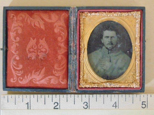Daguerreotype photograph, portrait soldier