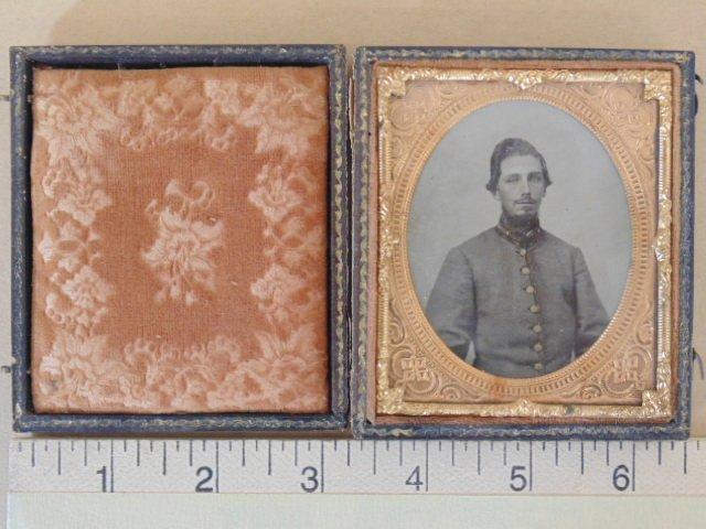 Ambro type photo, portrait soldier