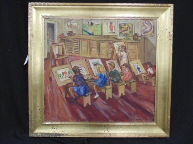 "Painting, ""Art class"", Sara Kolb Danner, California"