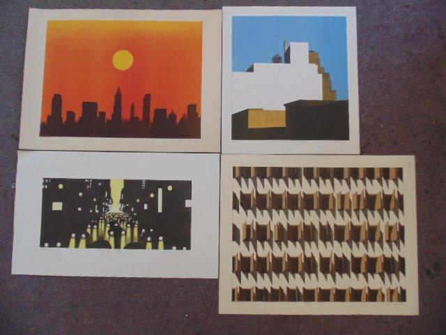 Lot 5 lithographs by Emilio Sanchez