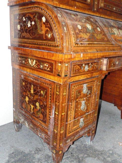 Italian inlaid bookcase secretary desk from the - 3
