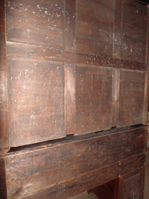 Italian inlaid bookcase secretary desk from the - 6
