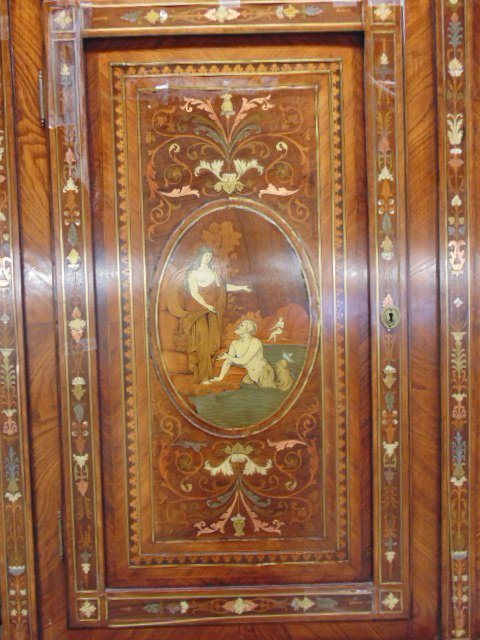 Italian inlaid bookcase secretary desk from the - 8
