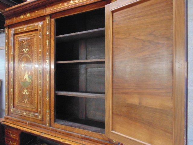 Italian inlaid bookcase secretary desk from the - 9