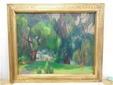 "Painting, ""Green Grass"", signed Ruth Minerva Bennett"