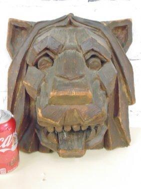 Folk Art Lion Mask