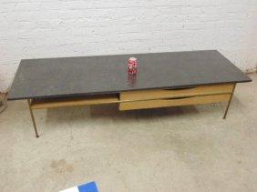 Calvin For Paul Mccobb Black Marble Top Table