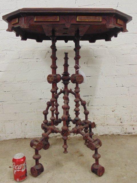Folk art spool table, 19th Century