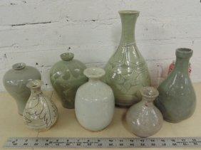 Lot 7 Asian glazed stoneware vases