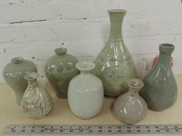 Lot 7 Asian glazed stoneware vases