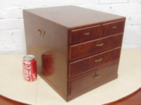 Japanese table top jewelry chest