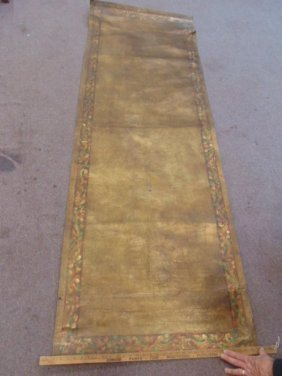 Tooled leather sheet with decorated border