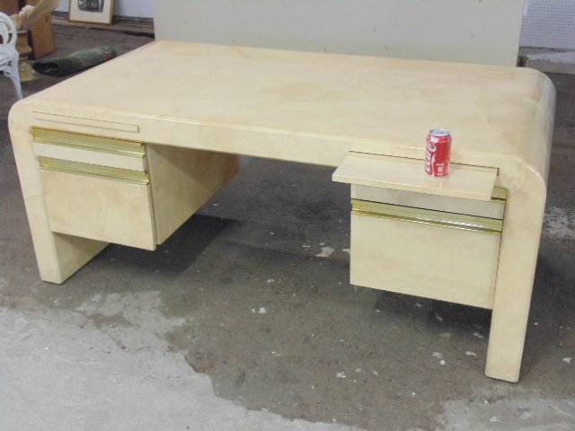 Modern desk, probably by Karl Springer